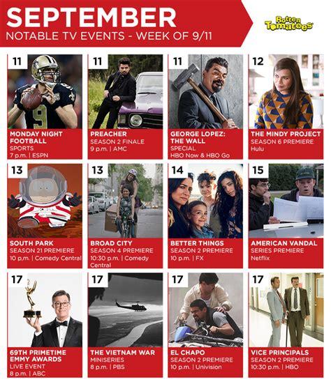 tv calendar week september