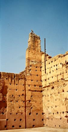 free badii palace, marrakech stock photo freeimages.com