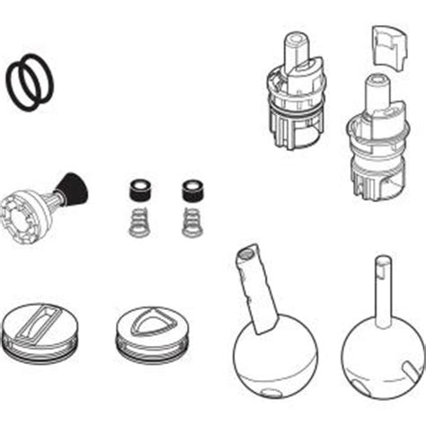 the incredible repair kit for delta single handle kitchen delta single handle repair parts kit rp63138 the home depot