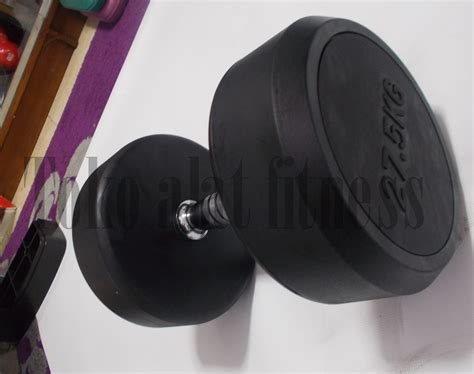 Dumbell Fix Rubber 5kg dumbell fix rubber 27 5kg toko alat fitness