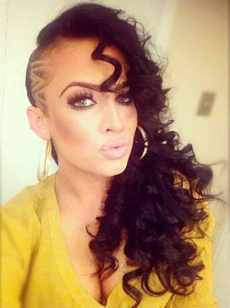 curly hairstyles with shaved sides 842 best images about h a i r s h a v e d on pinterest