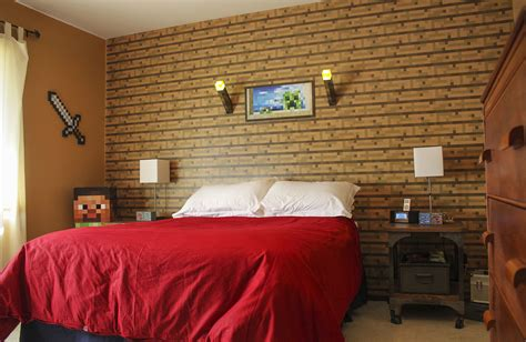 minecraft bedroom wallpaper minecraft bedroom wallpaper hd