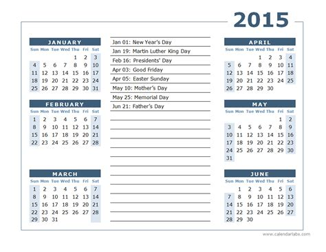 2015 yearly calendar two page 02 free printable templates