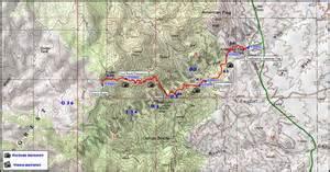 arizona trail map experience az arizona trail oracle ridge maps