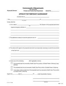 free guardianship template best photos of temporary custody forms free printable