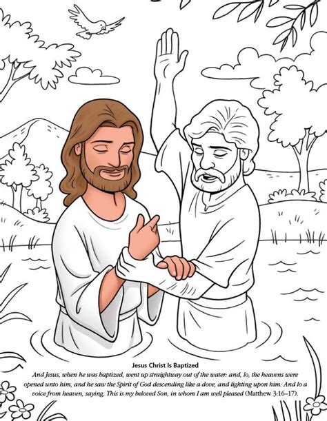 coloring pages jesus is baptized 310 best new testament worksheets color pages images on
