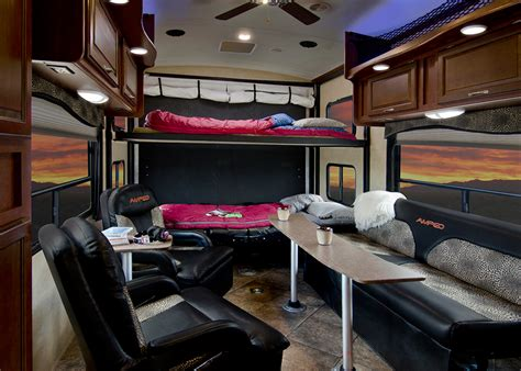 Fleetwood Travel Trailers Floor Plans inside evergreen rv s impressive new amped toy hauler