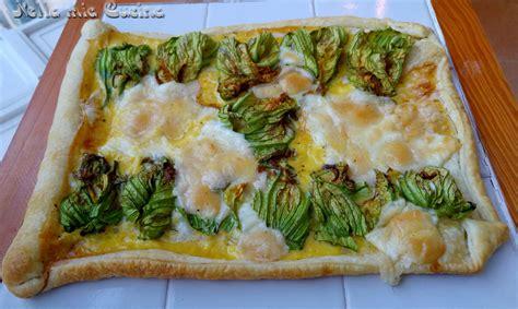 pasta sfoglia con fiori di zucca torta salata con fiori di zucca miriam nella cucina