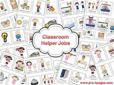 printable job cards for classroom classroom helper jobs printable packet via www pre kpages