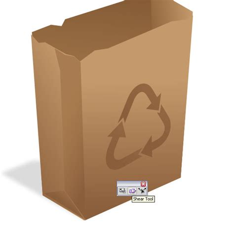 Paper Bag Steps - how to create a recycling paper bag icon