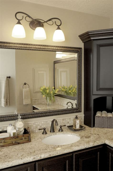 traditional bathroom decorating ideas glorious brushed nickel bathroom mirror decorating ideas
