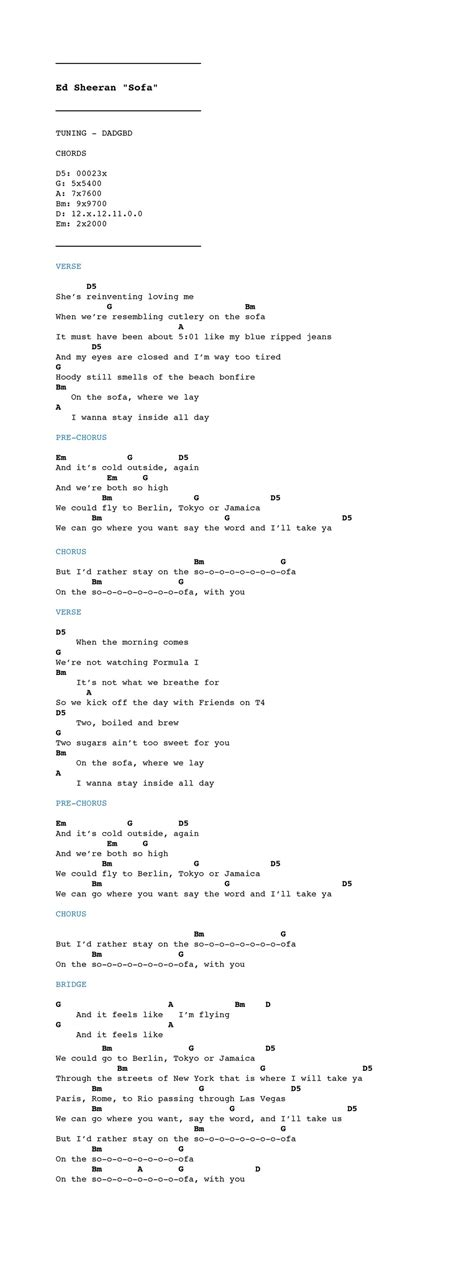 ed sheeran sofa lyrics ed sheeran sofa lyrics 29 with ed sheeran sofa lyrics
