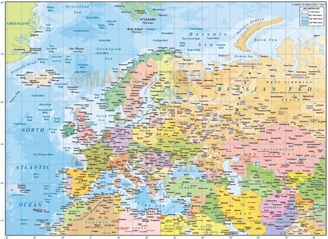 eurasia map eurasia political map with sea contours gall projection 10m scale in illustrator and pdf formats