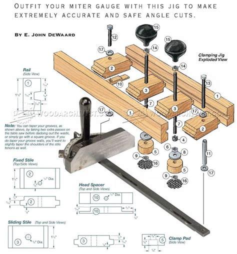 miter gauge clamping jig woodarchivist