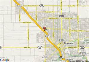 modesto california map map of ramada inn modesto modesto