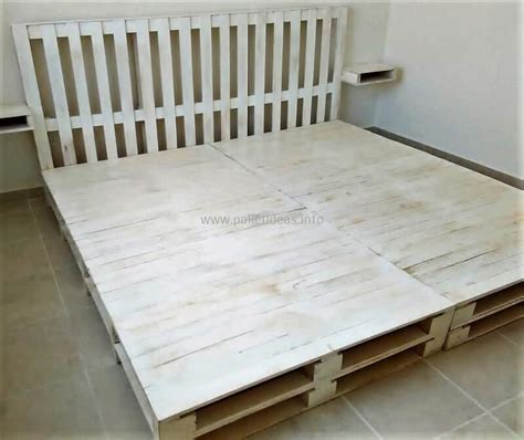 wooden pallet bed frame some interesting diy plans with wood pallets pallet ideas