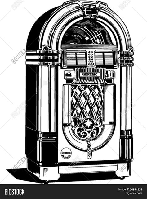 jukebox clipart jukebox 1 retro clipart illustration stock vector