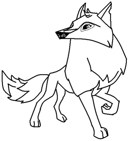 Aj Template Aj Arctic Wolf Base Sketch Coloring Page