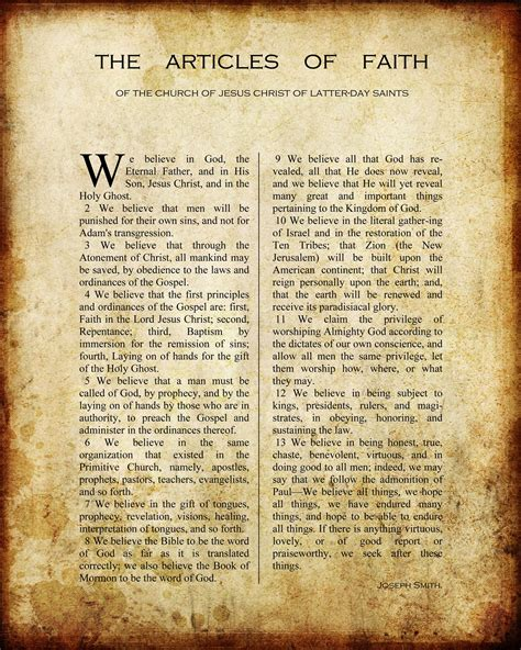 printable articles free printable articles of faith lds pins we like