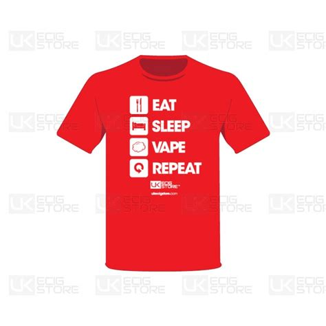 Promo Kaos Vape Eat Sleep Vape Repeat ukecs repeat shirt2 uk vape deals