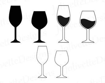 wine glass svg wine glasses svg etsy