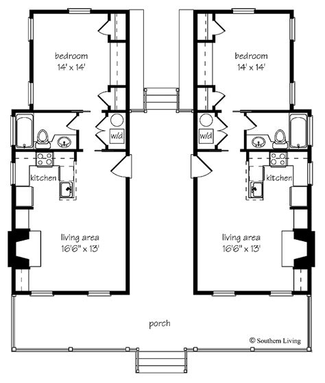 Dog Trot Style Floor Plans | dogtrot house plans cottage house plans