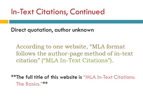 apa format unknown author how to cite a direct quote from website in apa format