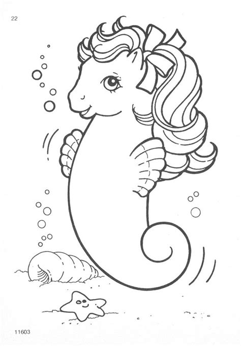 sea pony coloring pages my little pony g1 coloring pages a photo on flickriver