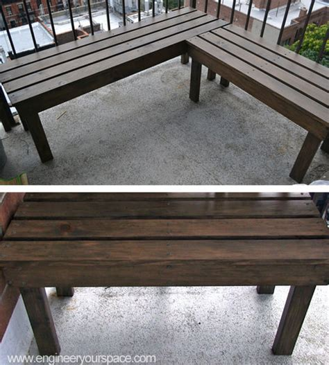 corner patio bench diy outdoor wood bench