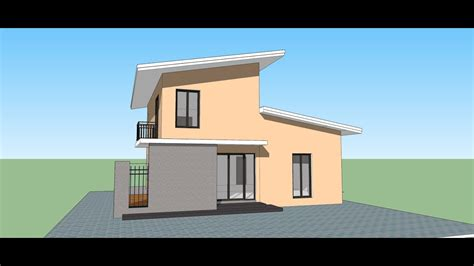 sketchup create modern house   min youtube