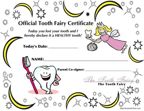 Free Tooth Certificate Template teeth coloring pages official tooth i lost my