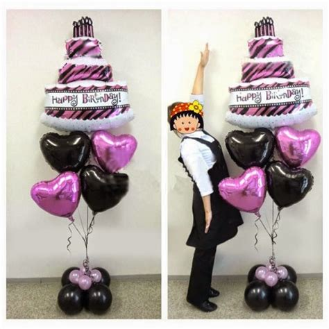 Balon Cake Happy Birthday balon foil cake happy birthday elevenia