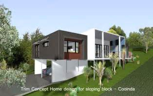 sloping house plans home designs sloping blocks 187 homes photo gallery