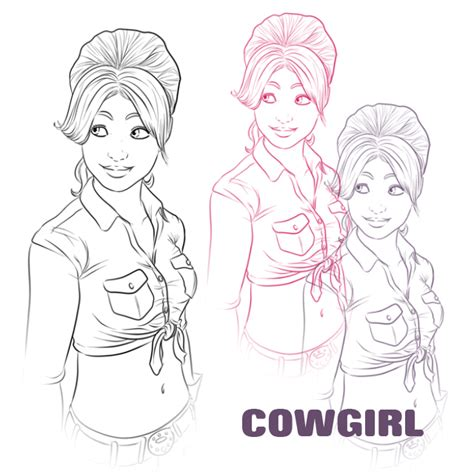 anime lineart tutorial photoshop cowgirl line art photoshop brush by miserie on deviantart