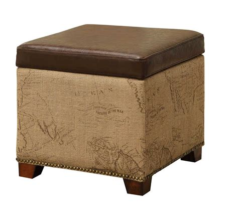 armen living ottoman armen living antique brown storage ottoman al lc5007otvb