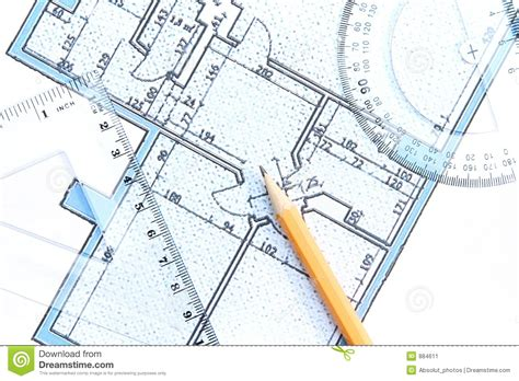 Architectural Blueprint Stock Image Image 884611 Architectural Plans Printers