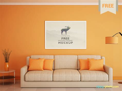 living room images free free poster and photo frame mockup by zippypixels dribbble