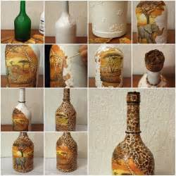 Easy Art And Craft Ideas For Home Decor How To Make African Motif Bottle Step By Step Diy Tutorial
