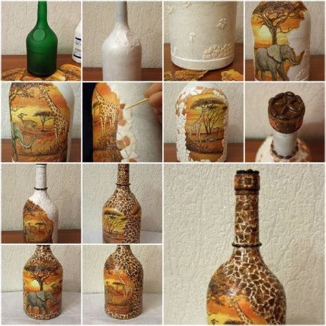 crafts diy home decor how to make african motif bottle step by step diy tutorial