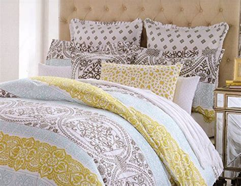 mustard bedding cynthia rowley king or queen duvet cover set large moroccan ornate medallion mustard