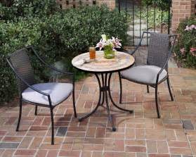 Small Indoor Bistro Table Set Home Styles 3 Pc Indoor Outdoor Bistro Set Includes Terra Cotta Bistro Table 2 Laguna Slope