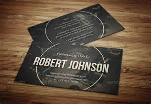 dj business card template dj business card templates free