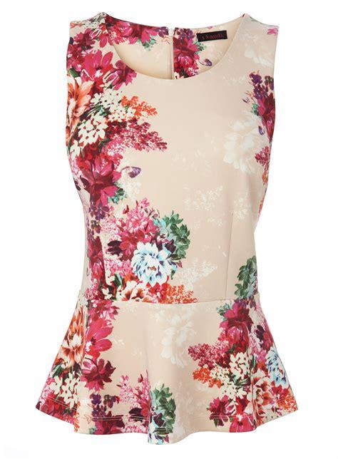 best floral floral peplum top tops t shirts