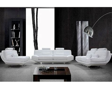 Modern White Leather Sofa Set Modern Design White Leather Sofa Set 44l0670 Alley Cat Themes