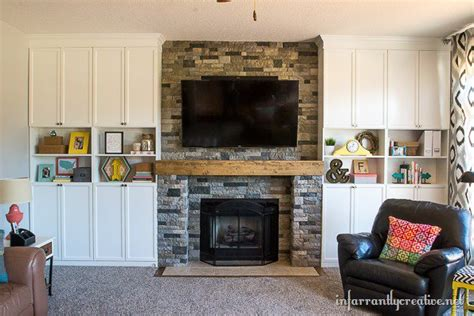 ikea bookcases around fireplace 5 ways to fake a fireplace mantel infarrantly creative