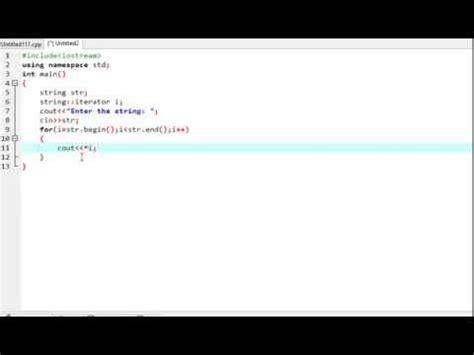 iterator pattern youtube string print using iterator in c youtube