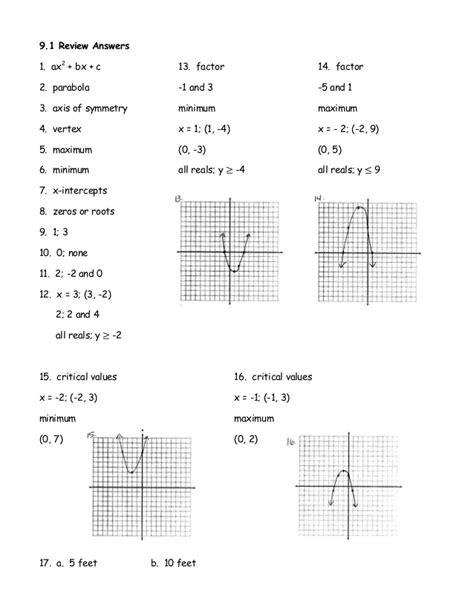 Graphing Quadratics In Standard Form Worksheet by Graphing Quadratic Functions In Standard Form Worksheet