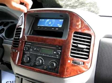 security system 2002 mitsubishi challenger instrument cluster how to remove radio cd changer from 2004 mitsubishi montero for repair youtube