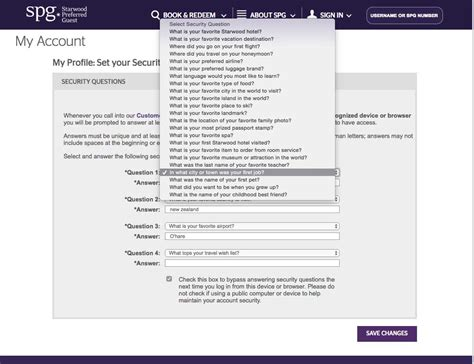 ux rant starwood hotel security question best practices