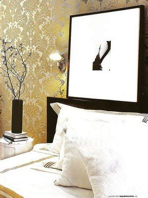 metallic bedroom wallpaper yellow metallic wallpaper contemporary bedroom elle